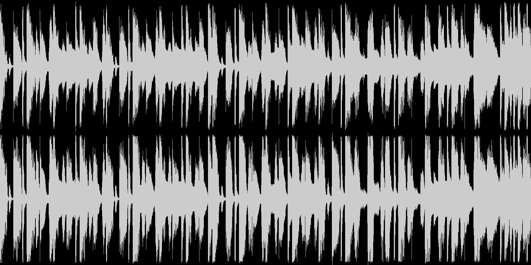軽快でお気楽なループ用BGMの未再生の波形