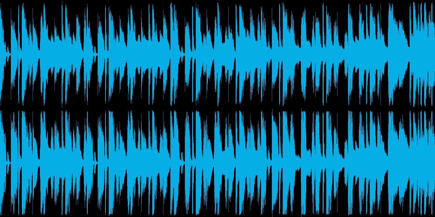 軽快でお気楽なループ用BGMの再生済みの波形