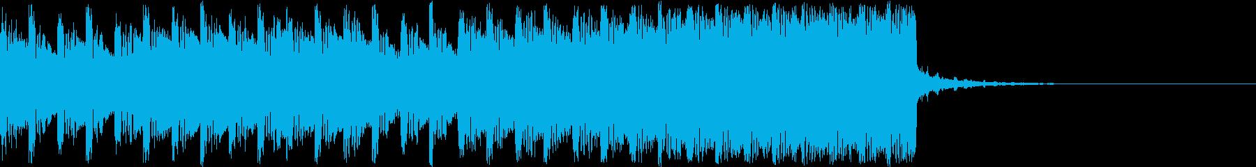 デジタル、CG、SFX等の映像ショート⑩の再生済みの波形