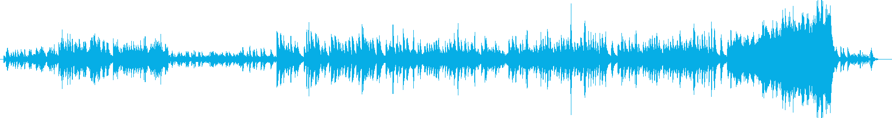 寂しげなピアノ曲の再生済みの波形