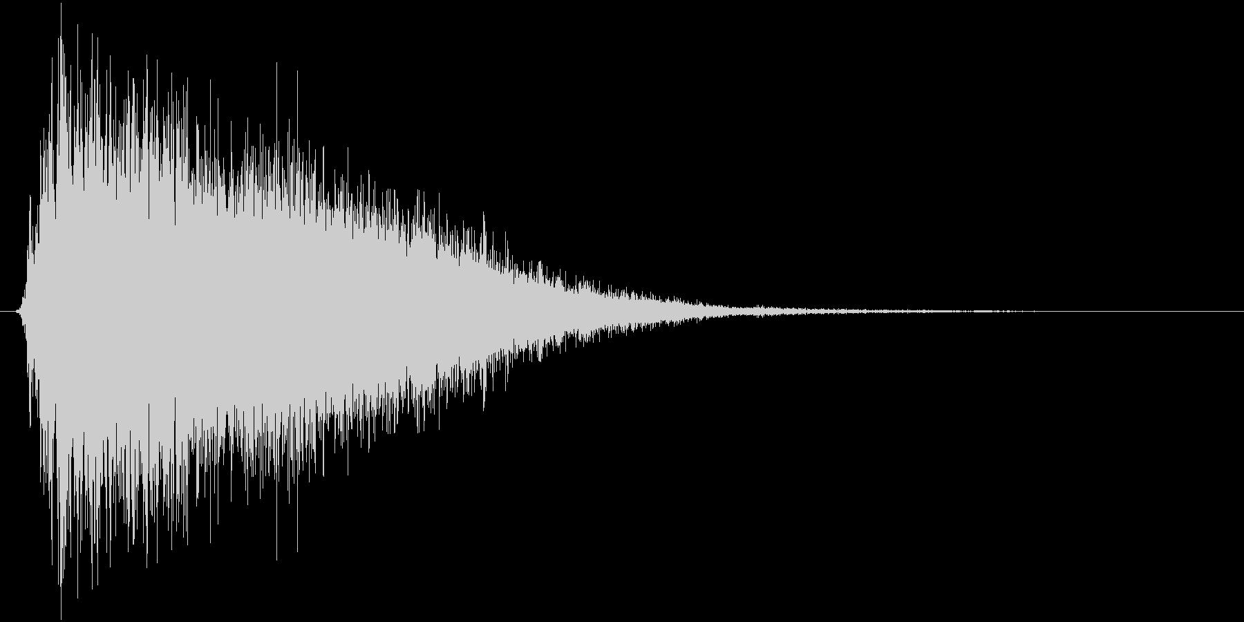 氷が砕ける・氷系魔法SE(プレーン版)mの未再生の波形