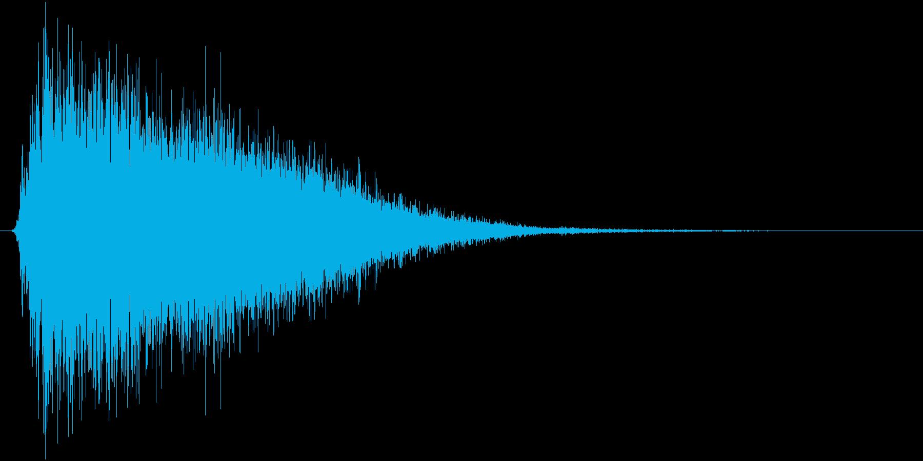 氷が砕ける・氷系魔法SE(プレーン版)mの再生済みの波形