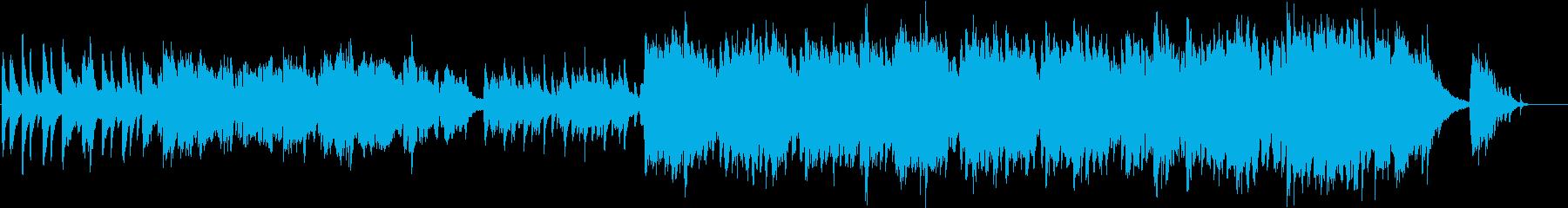 ハープとフルートの響きの極上和風インストの再生済みの波形