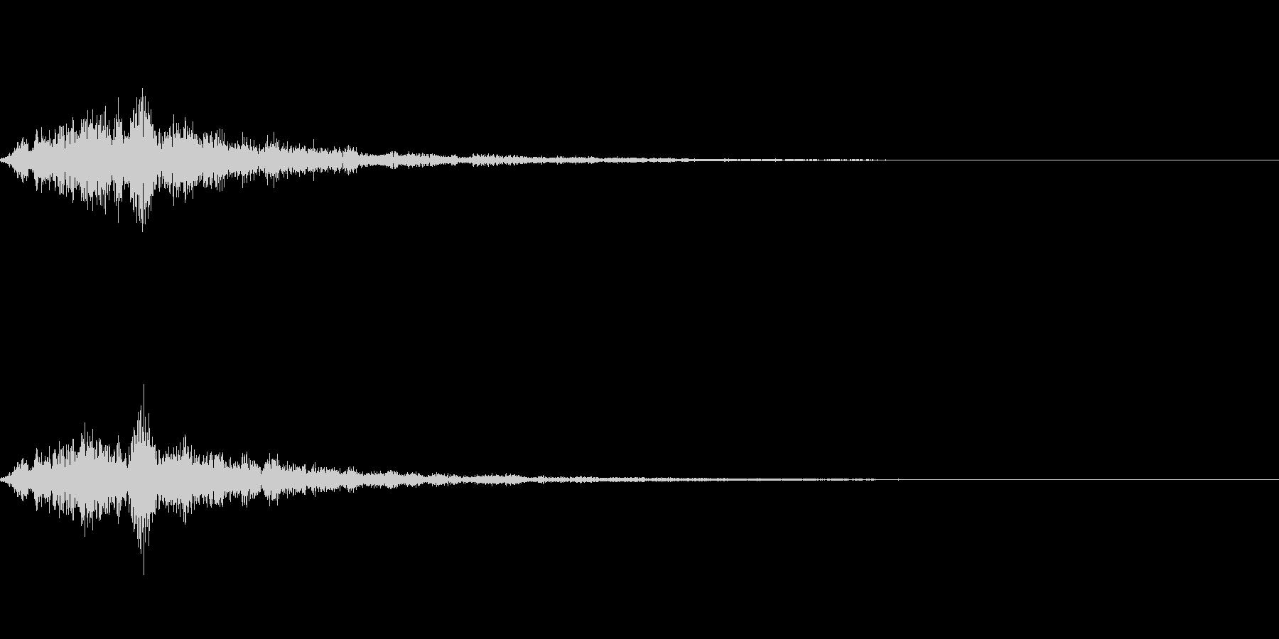 テロップの音・決定音・ダラララーンの未再生の波形