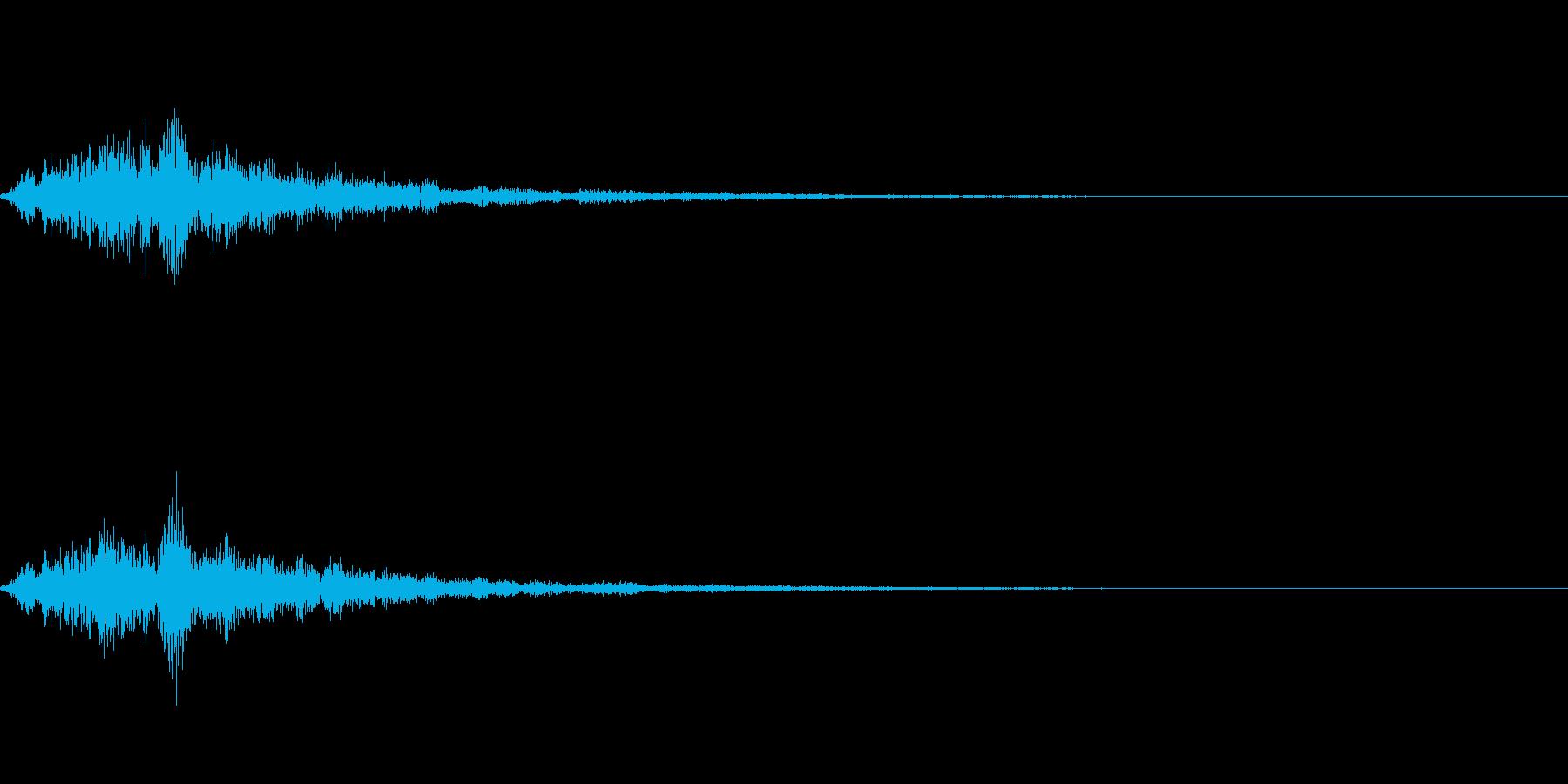 テロップの音・決定音・ダラララーンの再生済みの波形