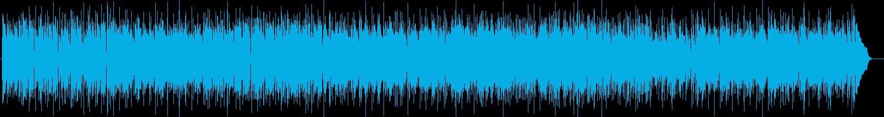 明るく弾けるシンセサイザー曲の再生済みの波形