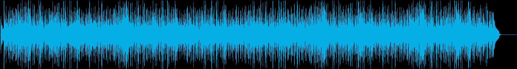 アラブ風の曲の再生済みの波形