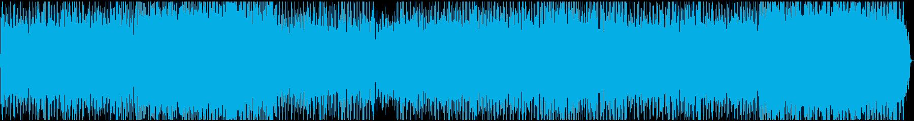穏やかさ軽やかさの中に力強さもあるBGMの再生済みの波形