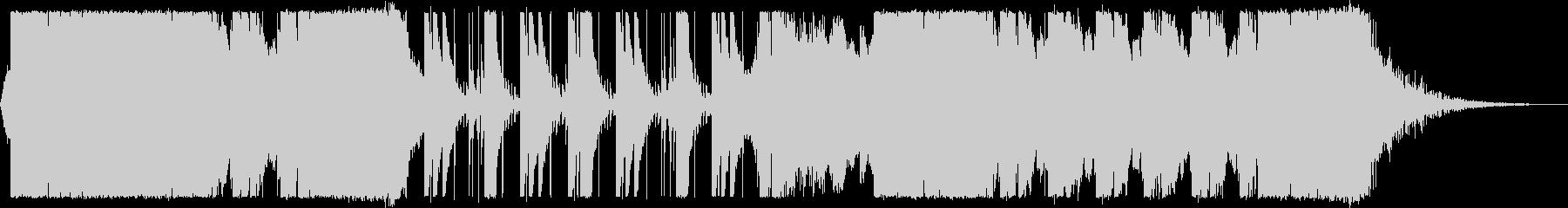 激しく緊迫感のあるバトルシーン系BGMの未再生の波形