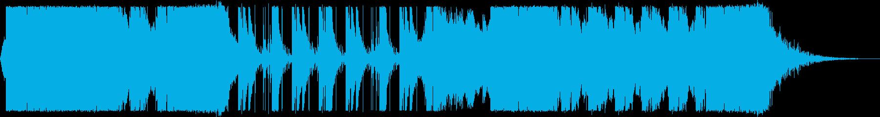 激しく緊迫感のあるバトルシーン系BGMの再生済みの波形