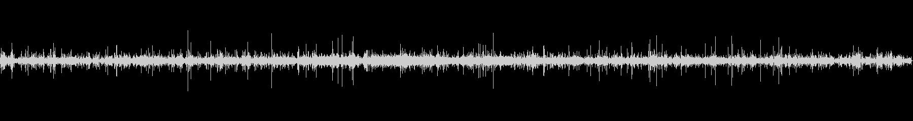 里山の小川の流れの環境音サンプリング素材の未再生の波形