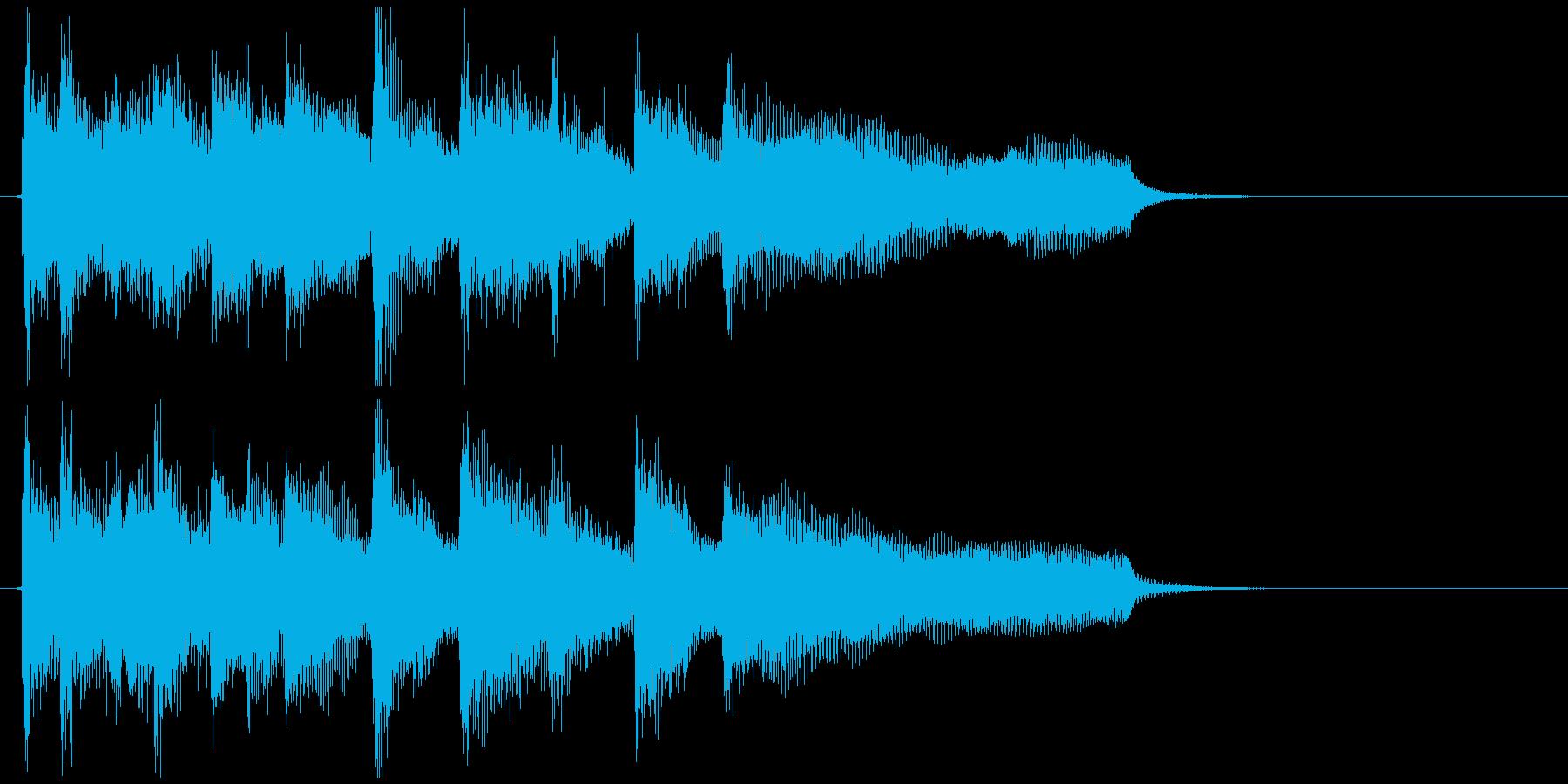 爽快なジャズファンクのアイキャッチの再生済みの波形