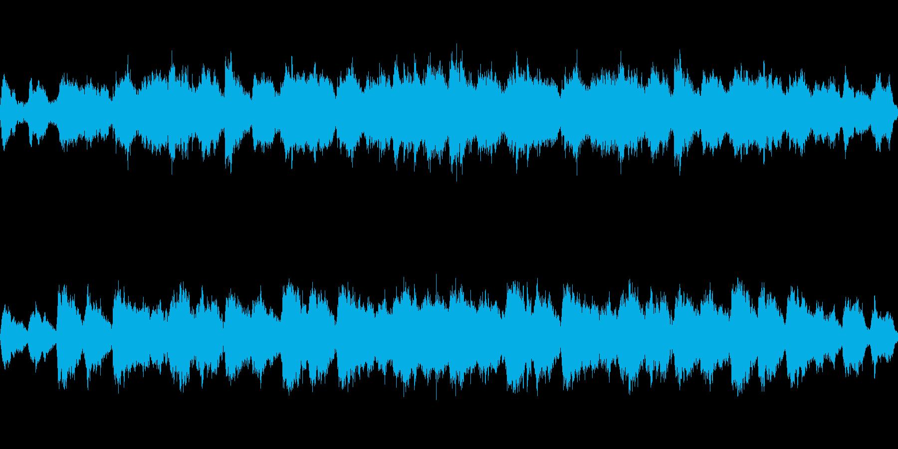 透明感、浮遊感のあるアンビエントループの再生済みの波形