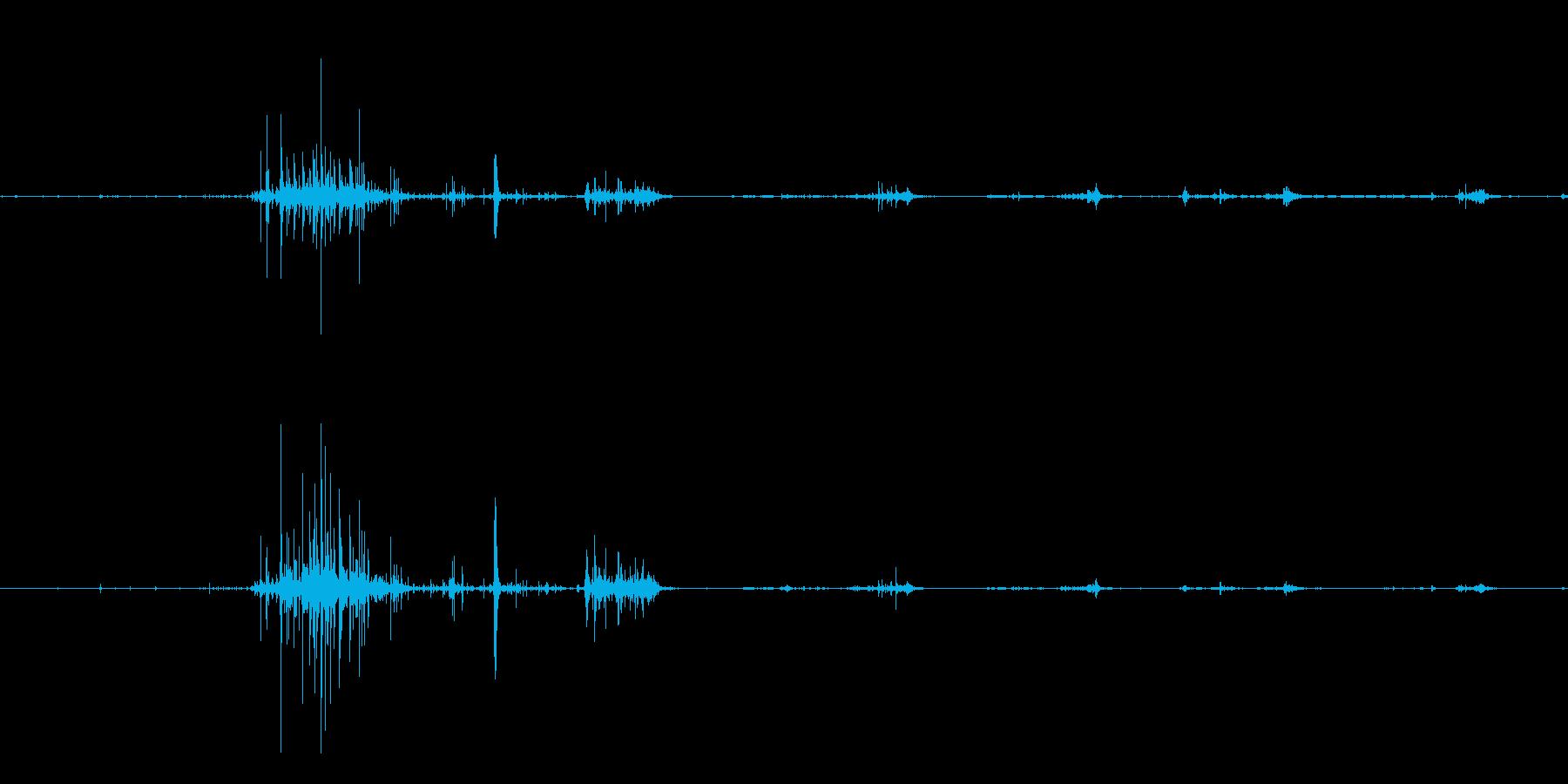 揚げ物をカリカリサクサクと食べる音の再生済みの波形