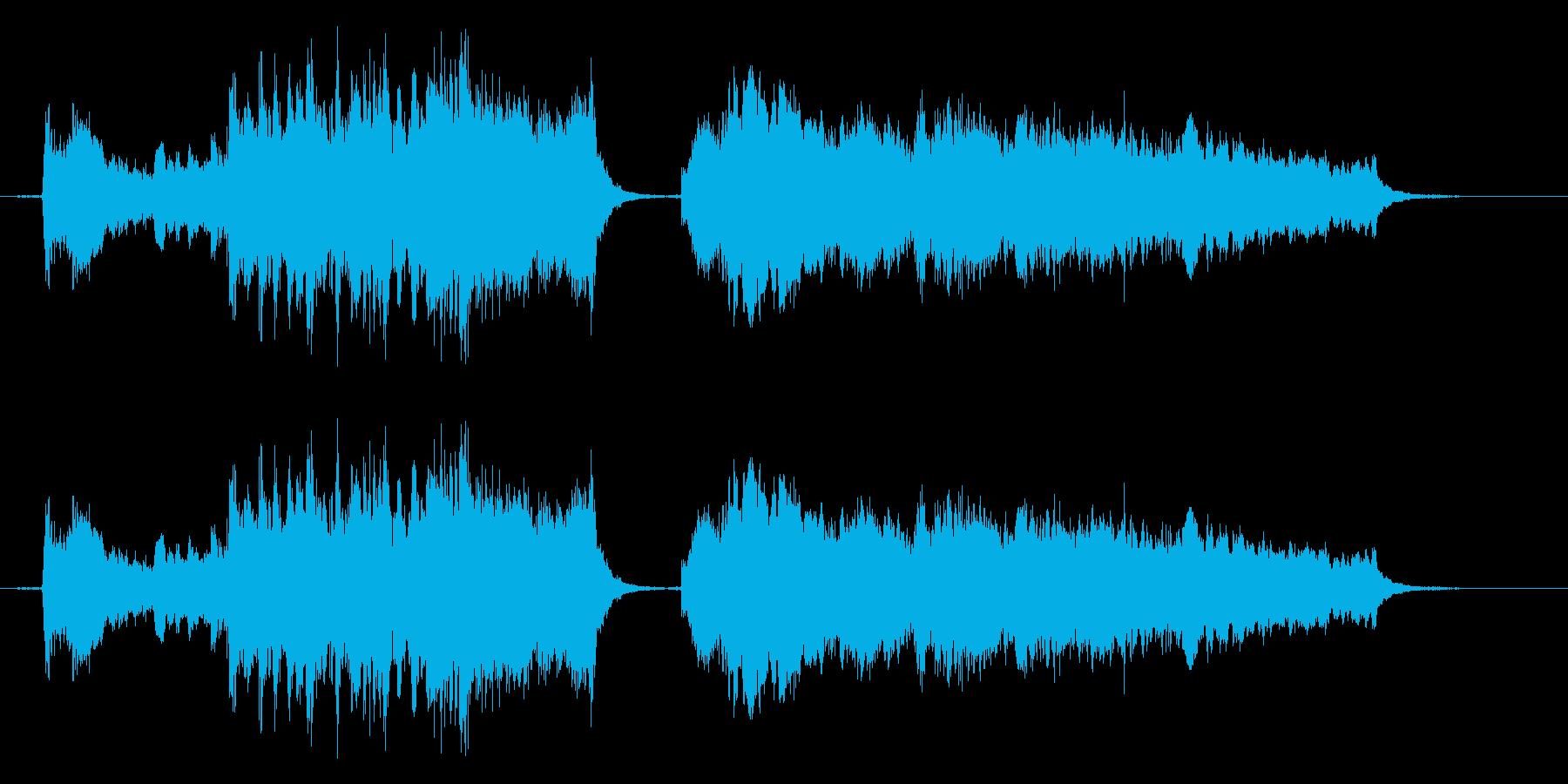 生オーケストラ録音の再生済みの波形