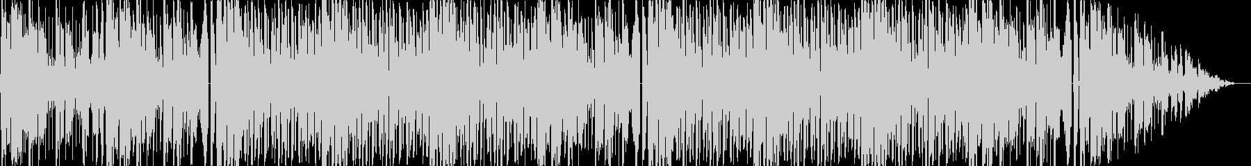 未来感のある煌びやかなエレクトロBGMの未再生の波形