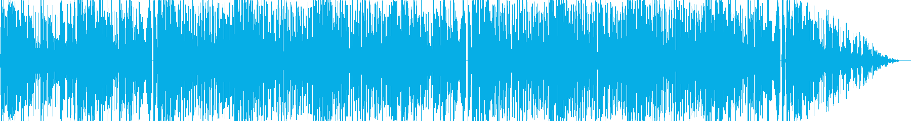 未来感のある煌びやかなエレクトロBGMの再生済みの波形