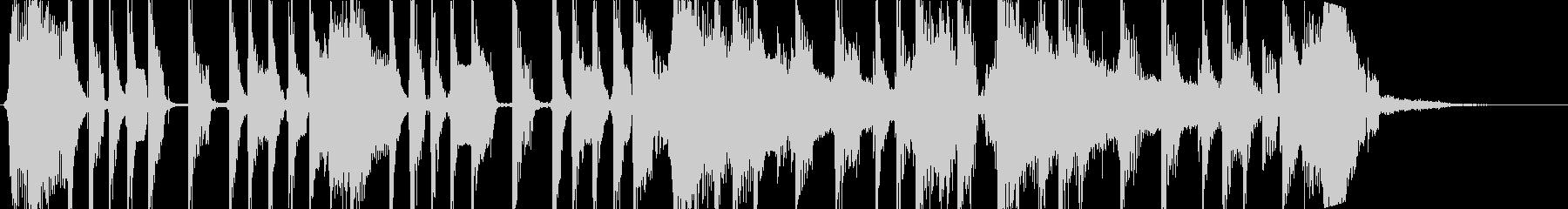 乾いたエレキギターによる短い曲の未再生の波形