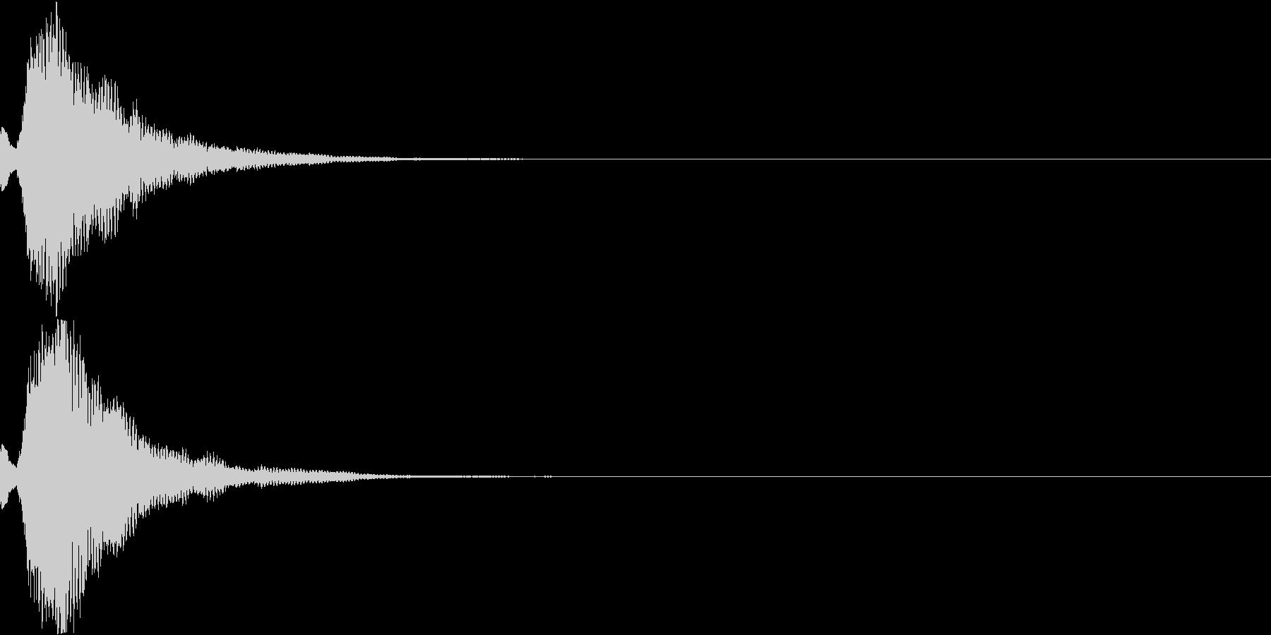 刀 キーン 剣 リアル インパクト Mの未再生の波形