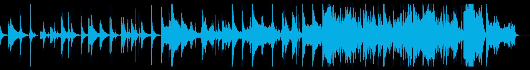静かなピアノ バイオリン 切ない朝 感動の再生済みの波形