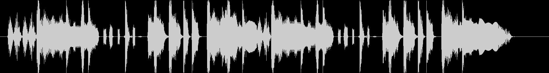 ファンキーなサウンドロゴの未再生の波形