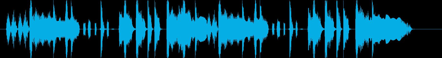 ファンキーなサウンドロゴの再生済みの波形