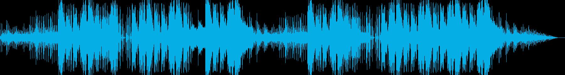 可愛い雰囲気のシンセサイザー曲の再生済みの波形
