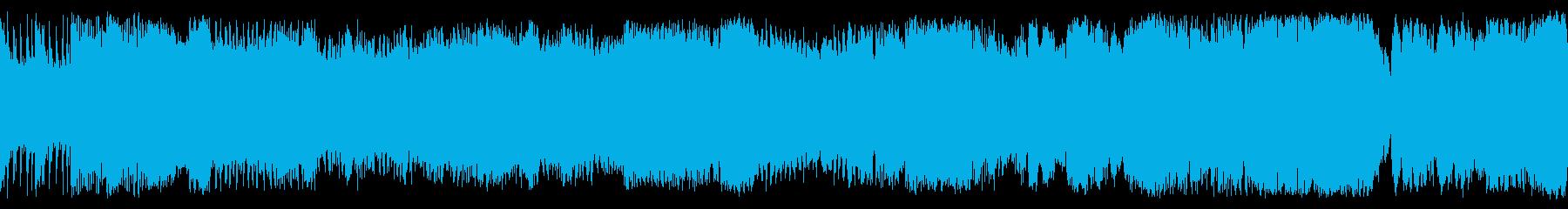 オケによるシリアスで重厚な戦闘・バトル曲の再生済みの波形