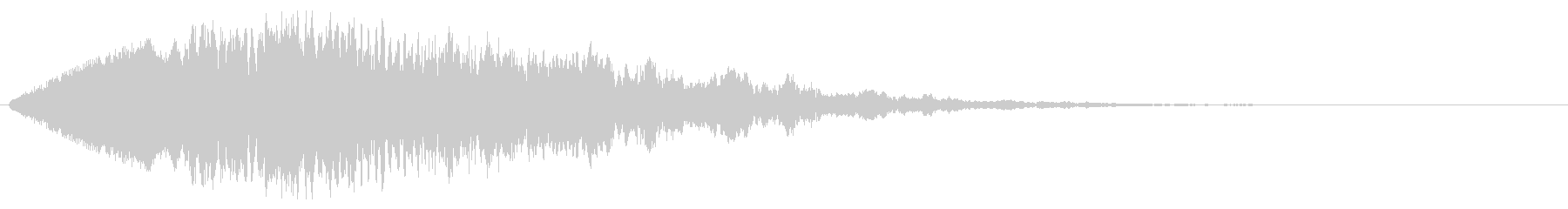 フォーン(近未来的なワープ音)の未再生の波形
