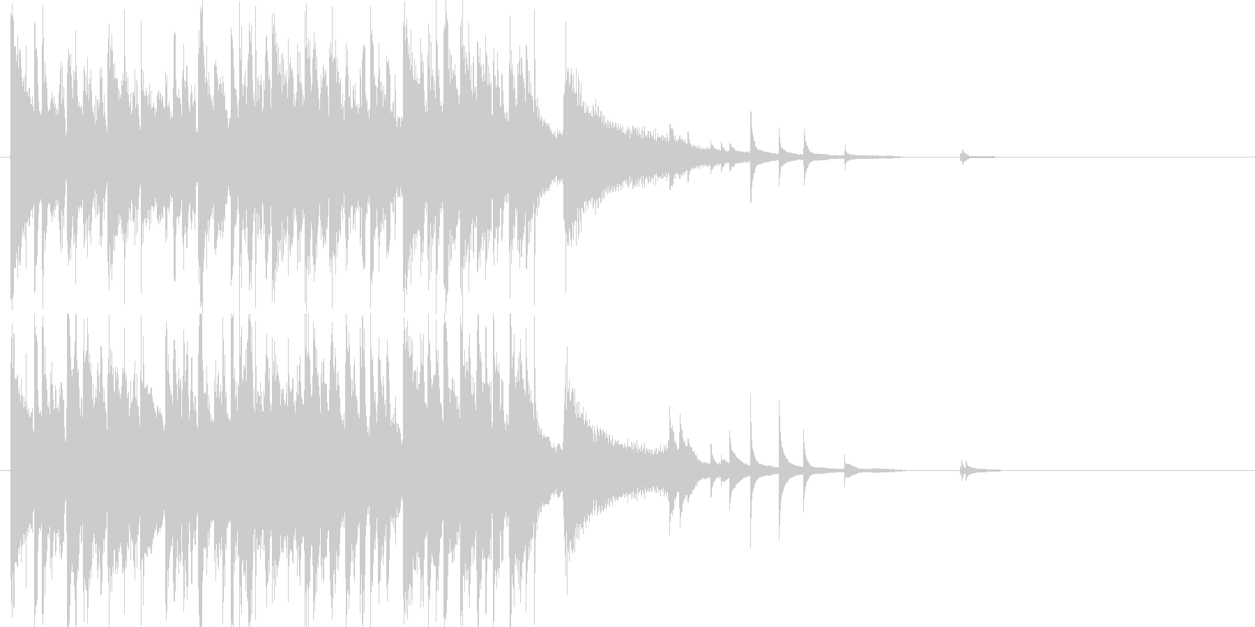 ピアノがおしゃれなジャズサウンドロゴの未再生の波形