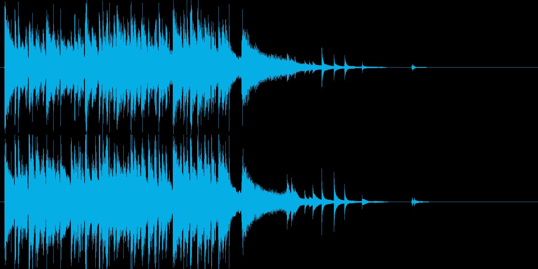 ピアノがおしゃれなジャズサウンドロゴの再生済みの波形