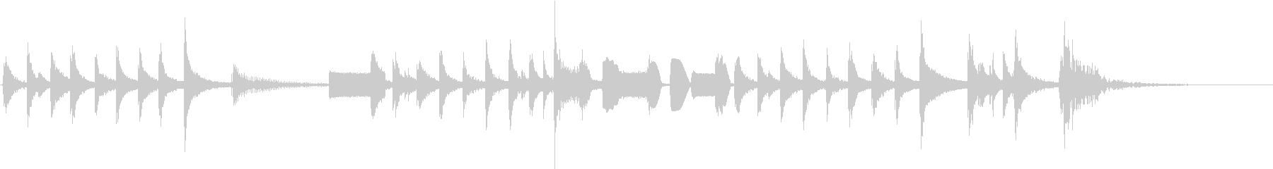 面白い追跡アクセントの未再生の波形