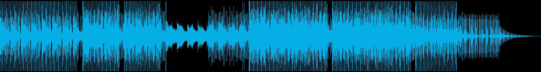 落ち着いたミニマルテクノの再生済みの波形
