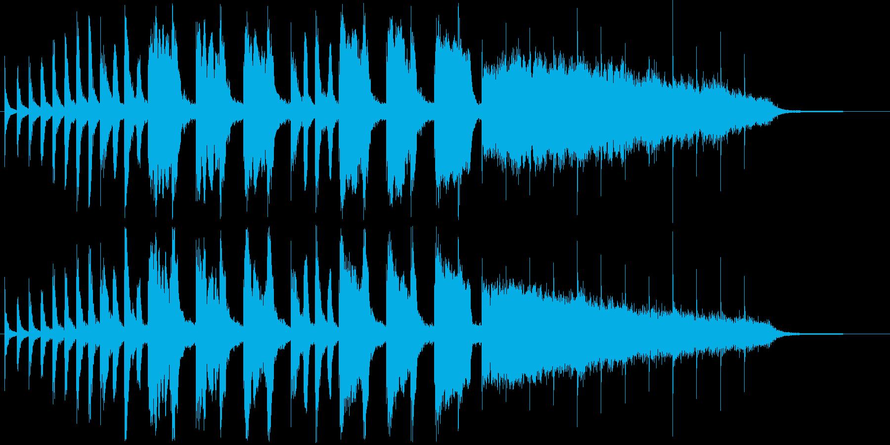 ポップでかわいい跳ねのある効果音の再生済みの波形