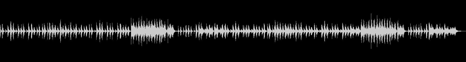 ピアノのみで奏でる切ない系バラードの未再生の波形