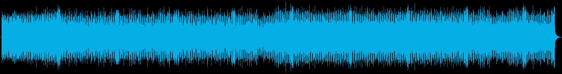 スペース感のあるピアノのハウス系ダンス曲の再生済みの波形