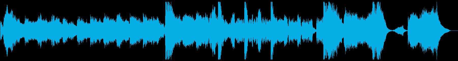 壮大な映画音楽的テーマ曲_ストリングスの再生済みの波形