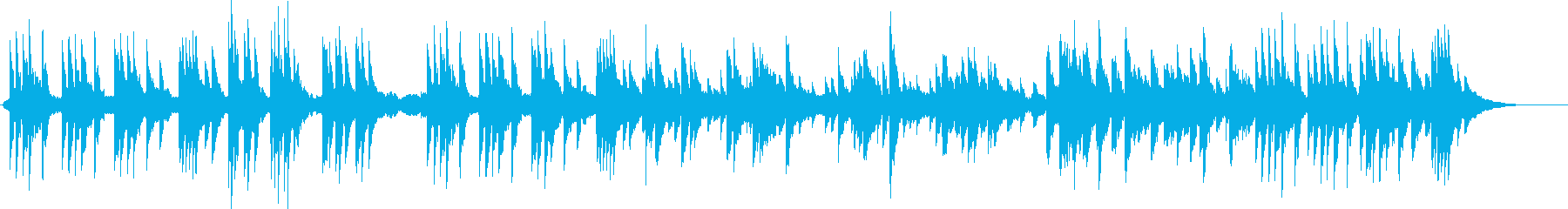 アコースティックピアノとアコーステ...の再生済みの波形