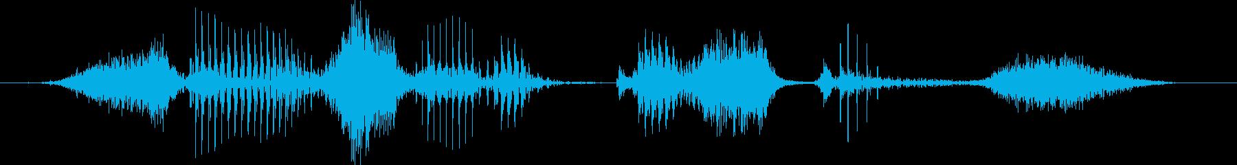 ソーシャルディスタンス(男性)の再生済みの波形