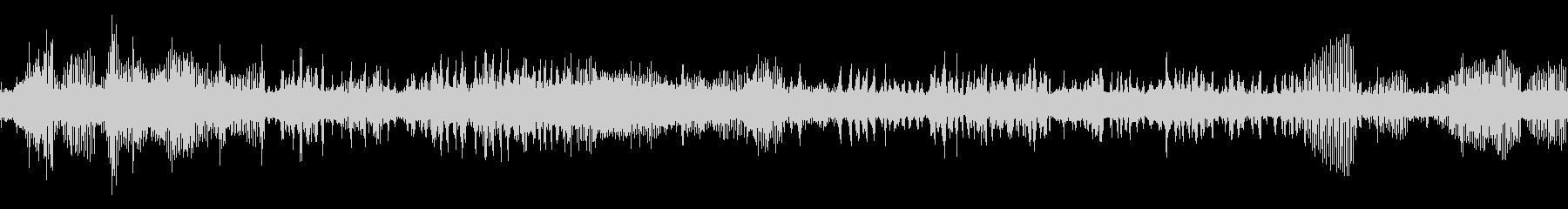 カジカガエルの鳴き声(ループ)の未再生の波形