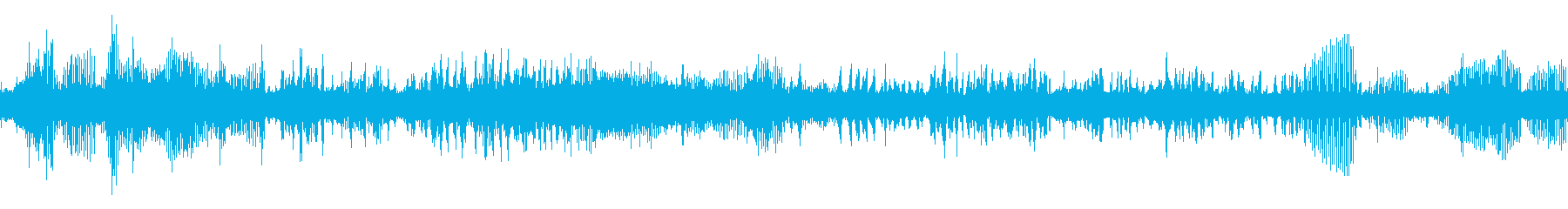 カジカガエルの鳴き声(ループ)の再生済みの波形