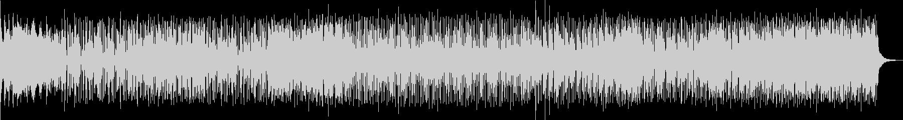 躍動感のあるロック調ポップスの未再生の波形