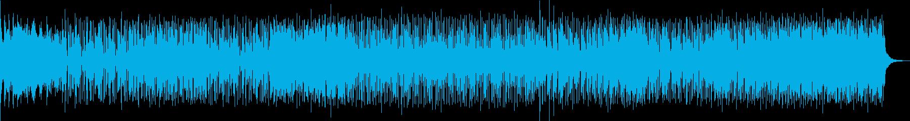 躍動感のあるロック調ポップスの再生済みの波形