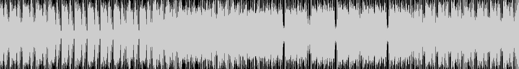 和風ロック調ループBGMの未再生の波形