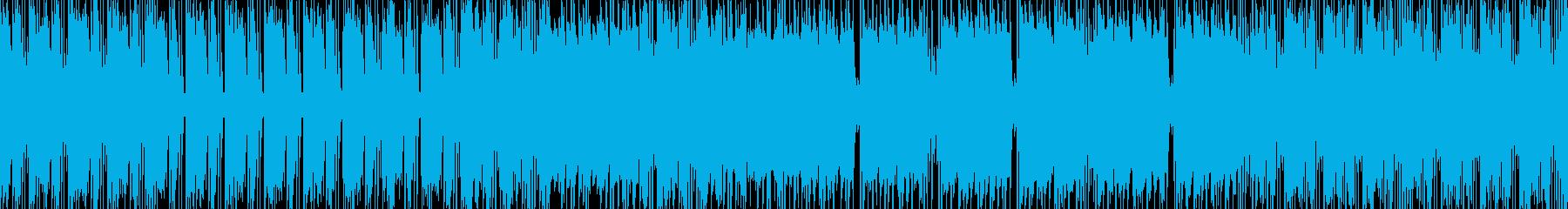 和風ロック調ループBGMの再生済みの波形