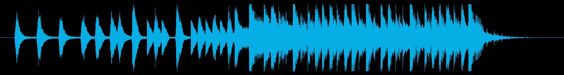 化粧品のCM風おしゃれBGM(15秒)の再生済みの波形