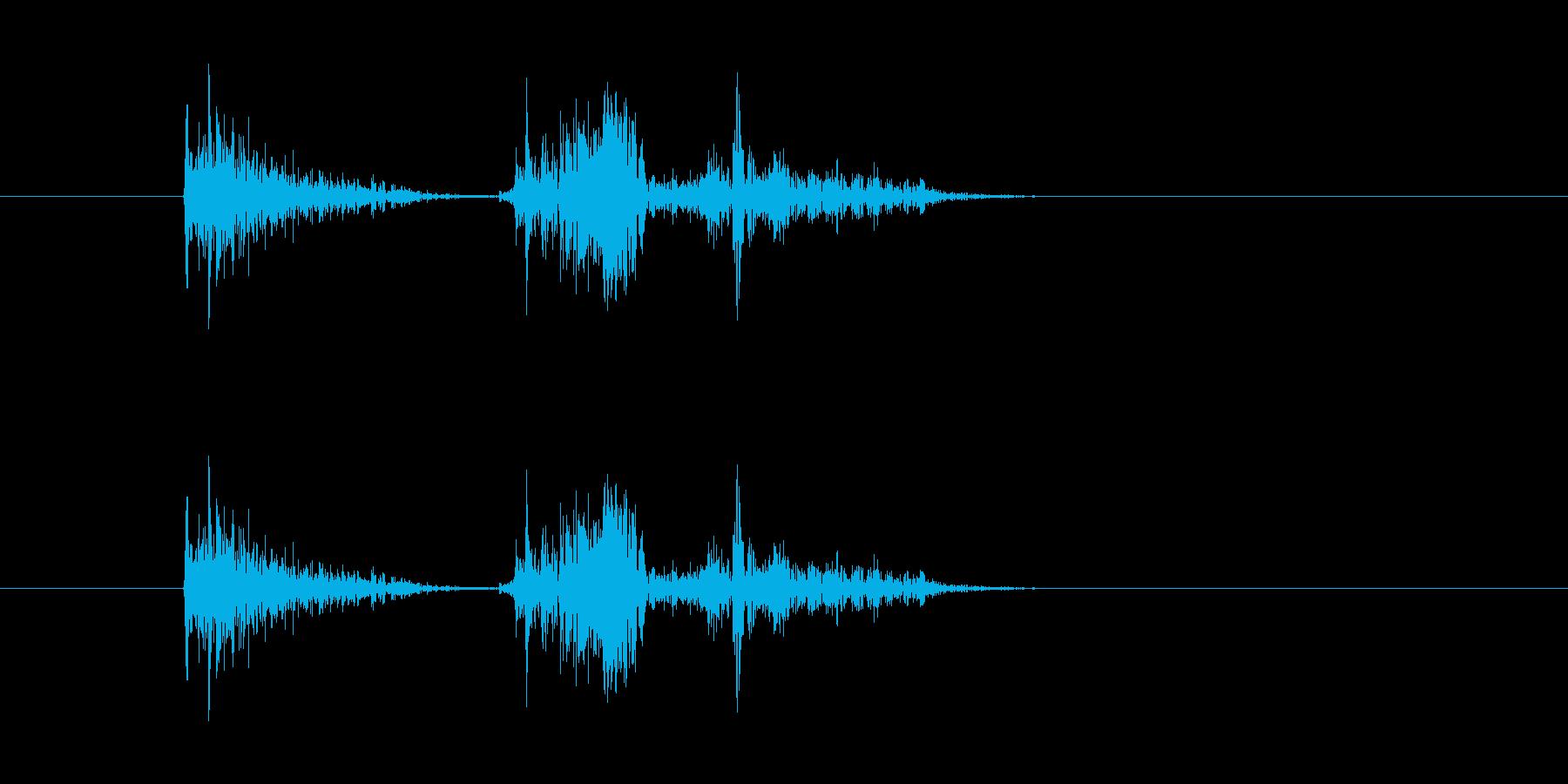 ガッ ガタッの再生済みの波形