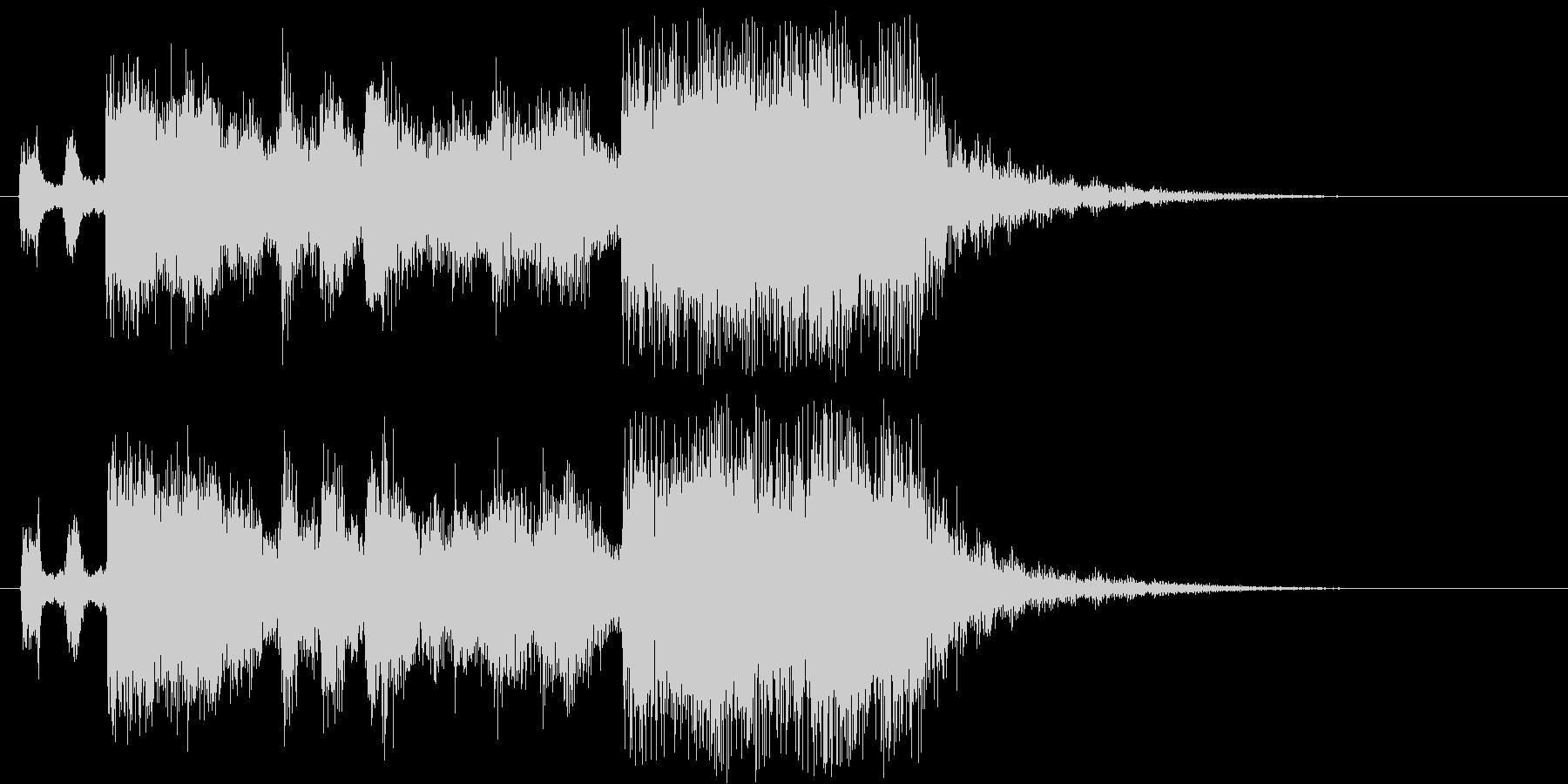フルオーケストラの豪華なファンファーレの未再生の波形