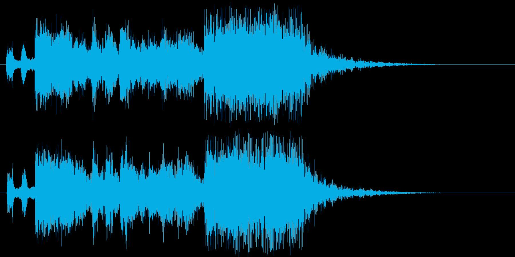 フルオーケストラの豪華なファンファーレの再生済みの波形