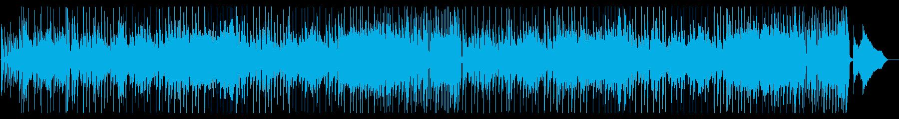 ダンディでクールな雰囲気のスローファンクの再生済みの波形